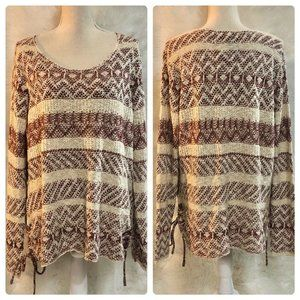 Knox Rose Sweaters - Knox Rose Striped Scoop Neck Sweater Size XS NEW